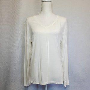 Cuddl Duds White Long Sleeve XL